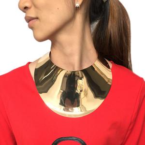 Collane di dichiarazione della grande coppia di torsioni della lega di modo per le donne Collana del choker del collare di grandi dimensioni Monili di stile di Steampunk di Boho Design