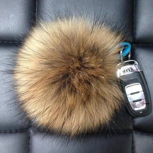 Pompons à fourrure de fourrure de raton laveur fait main de haute qualité pour chaussures bijoux tissu taille mélangée 6cm 8cm 10cm 12cm