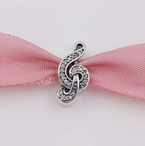 Autentico Argento 925 perline Sweet Music, CZ libera Adatto a cristalli nota della collana dei braccialetti 791381CZ monili europei di stile Pandora