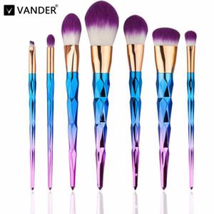 Professional Vander 7pcs Profesional de la Crema de Pinceles de Maquillaje Multipurpose Beauty Cosmetic Puff Batch Kabuki Blusher pincel maquiagem