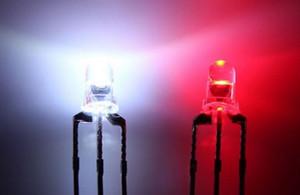 mélanger 10kinds bicolor Biocolor 3 mm 5 mm LED Diode eau de couleur rouge / bleu / blanc clair DIFFUSE