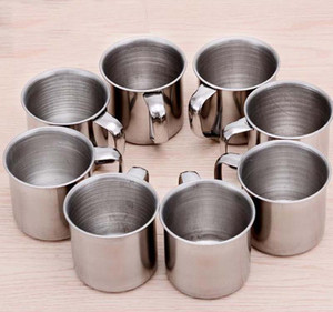 NEW Single-layer Stainless Steel Coffee Cups Portable Eco-friendly Non-toxic Tea Drinking Mug for Home Restaurant Cafe