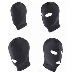 새로운 도착 성인 게임 Fetish Hood Mask BDSM Bondage Black Spandex Mask 섹스 토이 커플 4 For Specifications Choose