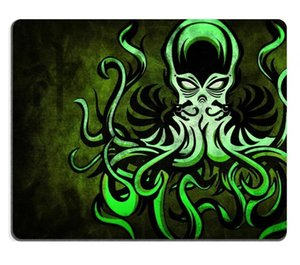 Verde Oscuro Humo Cthulhu Símbolo Alcohol Alfombrilla de Ratón Juego personalizado alfombrilla de Ratón Rectángulo estera de ratón