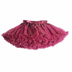 New 2017 Hot 21 Colors Vintage dusty pink Silver gray Wine Navyblue Baby Girl Fluffy Pettiskirt Girls Tutu Skirt Kids Petticoat