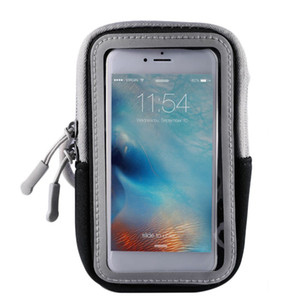 5/6 pulgadas deporte al aire libre universal transpirable gran capacidad pantalla táctil brazo banda caso bolsa bolso gimnasio Pounch accesorio de funcionamiento