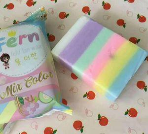 Yeni arriver 1 adet fern sabun İşi banyo omo El Yapımı Maske Doğal Cilt Vücut rainbrow Sabunlar Renkli sabun