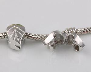 Europäische Anhänger Versilberung sichere Sperre Perlen Sicherheits Stopper-Korn-Legierung lose Positionierung Knopf Anhänger passende Armbänder Halskette Zubehör