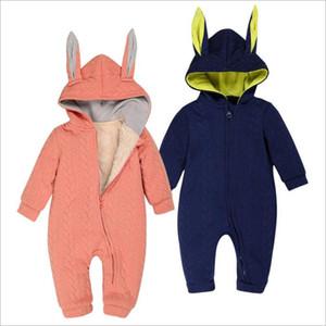 Kinder Kleidung Mädchen Winter Strampler Ins Jungen Fleece Kaninchen Overalls Kleinkind Mode Onesies Neugeborenen Tier Warme Bodys Baby Kleidung B3208