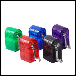 Nueva Manivela a mano Molinillo de plástico Hookah Molinillos para hierbas Manejar molinillos de tabaco Molinillos de manivela Molinillo de cigarrillos trituradora