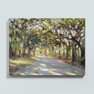 Gerahmte Southern Oaks Art, Reines handgemaltes Landschaftskunst-Ölgemälde auf Qualitäts-Canvas.Multi angepasste Größe vorhanden, freies Verschiffen