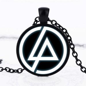 2017 Mode Linkin Park Logo Pendentif 25mm Colliers En Verre Lincoln Park Bijoux Collier Dôme Pendentif Hommes Et Enfants Fête Cadeaux Choker