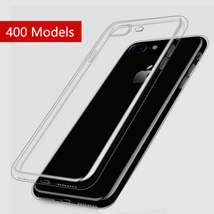 For Iphone x Samsung Galaxy S8 Crystal Gel Case for iPhone 8 7 Plus Ultra-Thin Transparent Soft TPU Cases Note 5 Clear Cover