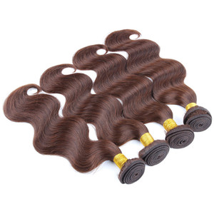 3Pcs lot Body Wave Peruvian Hair,100% Remy Human Hair Extension,8A Top Quality Color 4 Free shipping