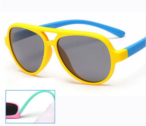 Polarized Kids Oval Gafas de sol TAC TR90 Pilot Soft Frame Baby Boys Girl Gafas de sol UV400, Child Children Outdoor Goggles 893