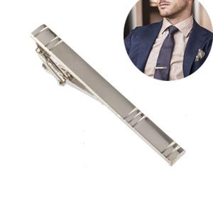 Erkekler Hediye Noel için 2017 Yeni Biçimsel Erkekler Alaşım Metal Moda Gümüş Kravat Kravat Pin Bar toka Klip Pim
