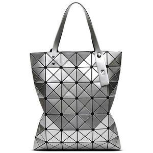 Baid Bao Baid Bao Borsa a tracolla con manico a forma di diamante con motivo geometrico
