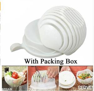 60 secondes salade cutter bol vague forme facile salade fabricant cuisine outils fruits légumes hachoir cutter rapide accessoires de cuisine