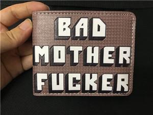 BMF Wallet Bad Mother F * cker Carteras de cuero Monedero Monedero fresco para regalo Unisex