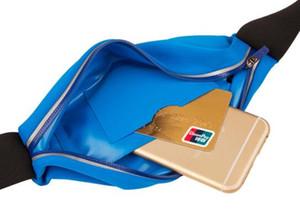 Unisexe taille ceinture Zip Pouch Multifonction Portable Sport sac de taille sac de ventre sac de ceinture en cours de fonctionnement sac de taille pour iphone 5 6 7 Plus