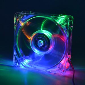 PC-Computer-Lüfter-Kühllüftereinheit 8025 8cm mit LED-Leuchten-Chassis-Lüfter 80 * 80 * 25