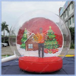 Inflable globo de la nieve, nieve gigante globo inflable de la bóveda para la decoración de Navidad, Navidad Photo Snow Globe calidad comercial, Shiping