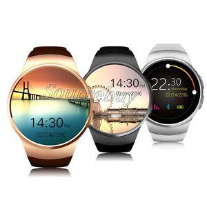 Новый KW18 Bluetooth Смарт Часы-Телефон Полный Сенсорный Экран Поддержка SIM-карты TF SmartWatch ЧСС для Apple IOS huawei Android Удаленная Камера