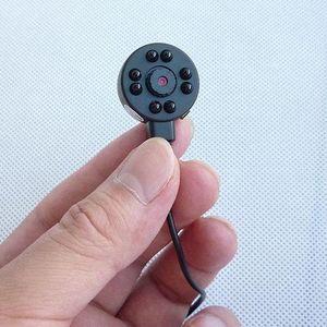 CMOS 1/4 600TVL 미니 핀홀 카메라 (8) 주도 적외선 나이트 비전 CCTV 카메라 오디오 비디오 레코더 색상 보안 감시 마이크로 카메라
