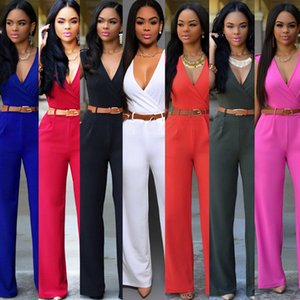 Brand new Burst high waist V-neck wide leg pants irregular set with belt NJ007