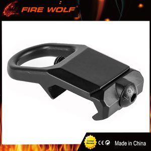 FIRE WOLF Sling-Montageplattenadapterbefestigung für 20-mm-Picatinny-Schienenadapter schwarz