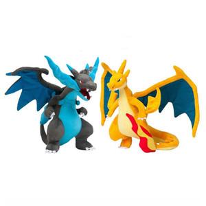 2017 Pocket Monster juguete de peluche Charizard Cómo entrenar a tu juguete de peluche de dragón Mega monstruo amarillo / Blue Dragon Colección muñeca de juguete