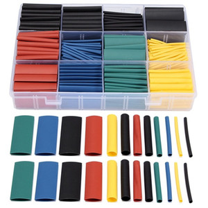 530 Pcs 2:1 Heat Shrink Tubing Tube Sleeving Wrap Cable Wire 5 Color 8 Size 1.5mm 2mm 3mm 4mm 5mm 6mm 8mm 10mm