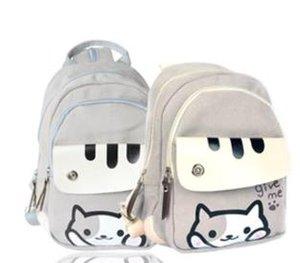 Jeu japonais adolescent décontracté toile chat école école d'impression collégiale sac à dos mignon sac à dos fille filles femmes atsume cour arrière en polyester stock elkj