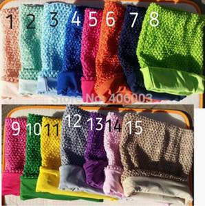 10 * 12 pouces doublé tutu haut crochet tube haut pour les filles crochet pettiskirt tutu tops 12 pcs lot hotsell
