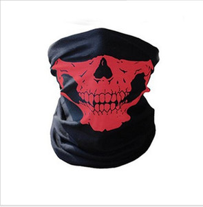 Multi bicicleta capacete da motocicleta máscara facial máscara metade crânio CS Ski Headwear Neck ciclismo cap chapéu cabeça pirata lenço halloween máscara pirata