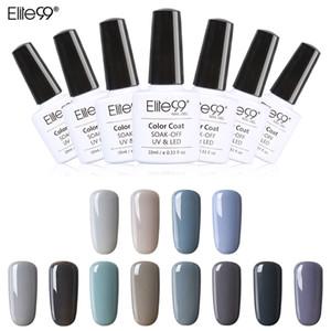 Atacado-Elite99 Novo Estilo 1pcs Nail Gel Polonês Soak Off Gel 10ml de longa duração Gel UV Polonês Colorido Nair Art 12 cores cinza Escolher