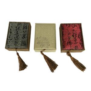 3 PCS Linen Jewelry Gift Box 3 Couleur Collier Cas Bijoux Organisateur Sac 7.5 * 10 * 3.5 cm