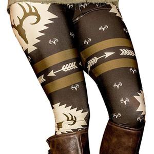 Gros-Noël Cerf Imprimé Stretchy Pantalon Leggings Impression Haute Élastique Exercice Fitness Femmes Leggings Pantalon