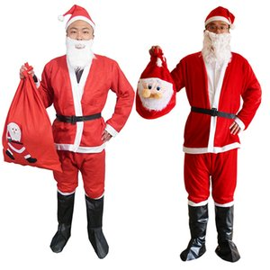 Kukucos Christmas Costumes Adult Santa Claus Costumes Men And Women Suits Cosplay Cloth