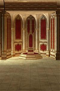 Fondo dell'interno di fotographia della parete del palazzo Fotografia di lusso delle colonne del mosaico dell'oro di lusso delle colonne del palcoscenico di cerimonia nuziale del fondo dell'annata