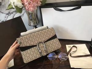 Las nuevas mujeres de 30 cm Cadenas bolsos real de alta calidad de cuero genuino bolsas en bolsa # G7 hombro totalizadores bolsas tienen polvo Monederos
