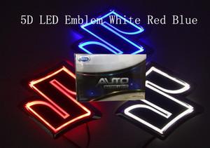 auto 5D ha condotto l'emblema auto dell'automobile LED distintivo simboli guidati logo posteriore luce blu rosso bianco per Suz * dimensioni ki 80x80mm