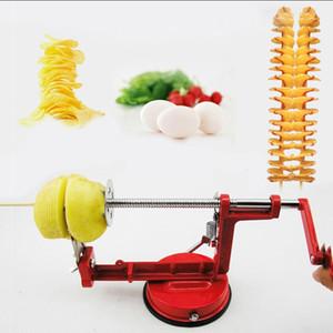 Machine manuelle de pomme de terre d'acier inoxydable / Tornado pomme de terre trancheuse étrange nouvel outil de cuisine à domicile