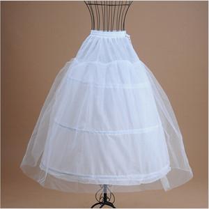 Nuevo Enagua del vestido de bola para el vestido de boda formal Falda blanca Antideslizante Crinolina Accesorios nupciales 3 Hoops Bone Full Desamor