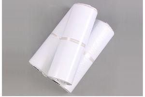 Bolsa de correo de calidad superior Polietileno Autoadhesivo Bolsa de correo autoadhesiva Sobre de plástico Mensajero Correo postal Bolsas de envío Blanco Gris 17 * 30 cm