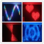 P6 3M * 6M de alta calidad plegable pantalla LED / LED Video Wall / LED Video Curtain LED Video PC de la PC Contro con Flight Case