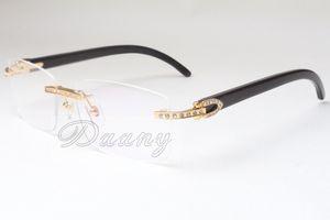 Прямые продажи моды очки, оправы, очковые рамка, T3524012, черные рожки, ретро алмазные очки, 58-18-140mm