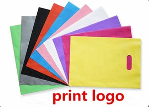 customize! 25*35cm plastic shopping bag gift plastic packing bag for printed LOGO clothes packing bag multi color Free Ship by DHL FEDEX