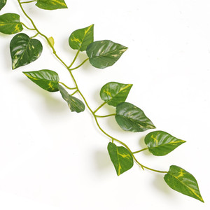 Wholesale- 2m Artificial Ivy Leaf Garland Plants Vine Fake Foliage Flowers Home Decor Plastic Artificial Flower Rattan Evergreen Cirrus