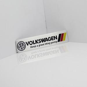 Allemagne Drapeau national de course autocollant de voiture Fit Pour Volkswagen Golf 6 Vw PLOL Métal R Badge Motorsport voiture mince métal aluminium Emblem
